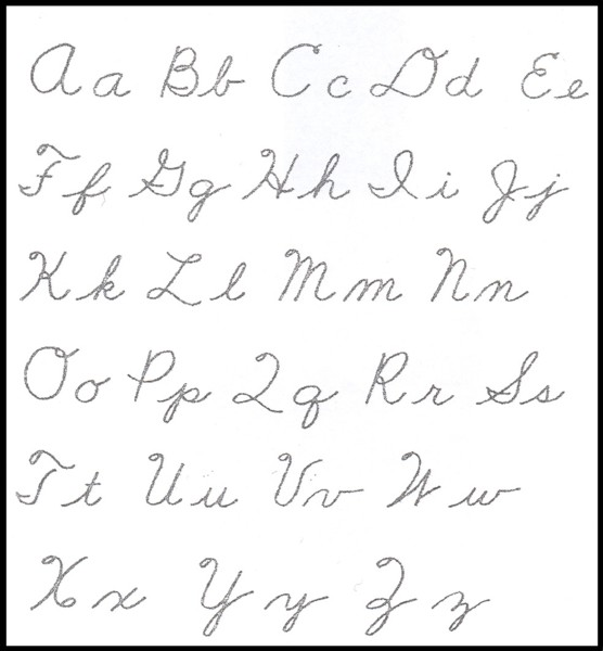 cursive letters in abc order how should we teach our children to write 13801
